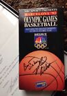 1994 Marv Albert Autographed NBC Letter And NBC 1992 Barcelona Olympics VCR Tape