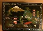 Oriental Hand-Painted Musical Jewelry Box- Unidentified Tune-No Key- See Flaws