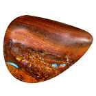 5.47 ct  Pear Cabochon (16 x 12 mm) Play of s Australian Koroit Boulder Opal