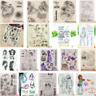 Fashion Lady Easter Transparent Silicone Clear Stamps DIY Scrapbook Embossing