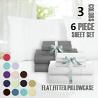 HIGHEST 1800 THREAD COUNT COTTON AND BAMBOO FEEL SOFT SHEETS SET DEEP POCKETS image