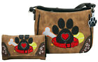Dog Paw Print Handbag Crossbody Carry Conceal Shoulder Purse Wallet Bag Pet Mom