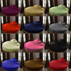 1 PC Round Fitted Sheet 1000 TC Best Egyptian Cotton Solid/Stripe Color All Size image