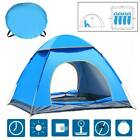 4 Man Instant Pop Up Tent Family Festival Outdoor Camping Hiking Fishing Shelter