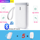 Mini Bluetooth Handheld Thermal Label Printer Smart App Control For iOS Android