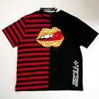 Hudson mens 100% authentic S/S t-shirt black/red taste lick mouth rare 1of1 new image