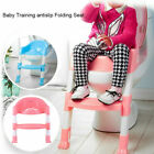 Trainer Toilet Potty Padded Seat Chair Kids Toddler w/ Ladder Step Up WW image