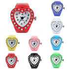 Women Heart Ring Colorful Watch Watch Finger Table Elastic Quartz Watch image