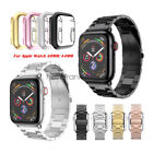 Stainless Steel Watch Strap Band + PC Cover For Apple Watch Series 5/4 40mm 44mm image