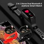 2 in 1 tws earbuds wireless ture bluetooth headphone smart watch with wristband
