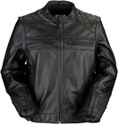 Z1R Men's Ordinance 3-In-1 Leather Motorcycle Jacket BLACK