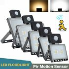 10/20/30/50/100W LED Floodlight PIR Sensor Motion Security Flood Light Outdoor