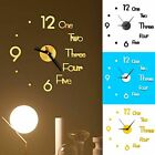 3D Large Wall Clock Frameless Mirror Number Sticker Modern Art Decal Decor USA