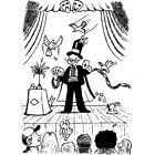 'Magician On Stage' Rubber Stamp (RS005418)