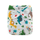 ALVA Baby Cloth Nappies Printing Color Adjustable Reusable diapers cover 3-15KG