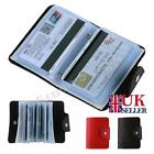 24 cards credit card holder wallet pu leather id business pocket purse box ca