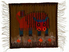 A small Polish folk art Bull wall hanging 1970's 40 cm New Old Stock