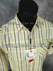 Mens PLATINI Western Style Button Shirt Citrus Color Plaid w Pockets