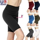 Внешний вид - Women's 3 inch Wide Waistband Biker Leggings Bike Shorts Yoga Fitness Sports