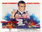 Never Say Never Again 1983 Repro Reproduction Print UK Quad Movie Poster £39.99 GBP on eBay