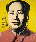 """28Wx32H"""" MAO ZEDONG 1972 by ANDY WARHOL - CHAIRMAN CHINA CHOICES of CANVAS"""