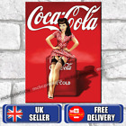 COCA COLA PIN UP GIRL Metal Signs Vintage Retro Hanging Wall Plaques Tin Sign UK £6.95  on eBay