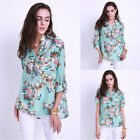 Women Long Sleeve Floral Blouse Casual Tops Ladies V Neck Floral T Shirt Blouses