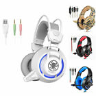 USB LED Game Light Headset For PC Notebook Computer Earphone For Xbox ONE PS4