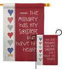 My Soldier Garden Flag Armed Forces Service Decorative Gift Yard House Banner