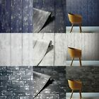 Arthouse Wood Brick Realistic Effect Metallic Navy Gold Black Silver Wallpaper