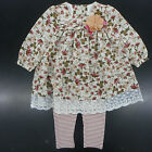 Infant Girls Bonnie Baby Floral Dress Top W/T Leggings 2PC Set Sizes 12Mt - 24Mt
