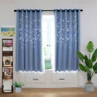 Ring Top Curtain & Mesh Thermal Blockout Curtain for Kids Boys Girls Bedroom USA