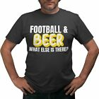 Football And Beer Mens Funny T Shirt Graphic Sport Drinking Joke tshirts Novelty