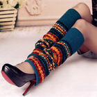 Fashion Womens Knee High Leg Warmers Knitted Long Boot Socks Leggings Stocking