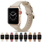for Apple Watch 40mm/44mm Fashion Slim Luxury Leather iWatch Band Women Strap   image