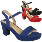 Womens Sandals Open Toe Ladies Summer Party Platform High Heels Comfy Shoes Size