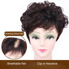 Short Curly Hair Topper Toupee 100 Human Hair Clip in Top Hairpiece Extensions