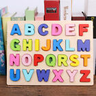 US Wooden Number Letter Puzzle Jigsaw Early Learning Baby Kids Educational Toys