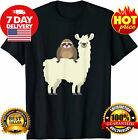 Cute Funny Sloth Riding Llama Animal Friends T-Shirt Funny Vintage Gift For Men