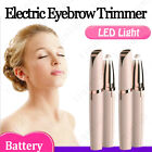 Electric Brows Remover Razor Face Eyebrow Trimmer Facial Hair Removal LED Light $5.49 USD on eBay