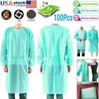 10-100Pcs Non-woven Security Protection Coveralls Disposable Isolation Gown LOT