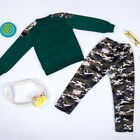 Teen Kids Big Boys Letter Tracksuit Camouflage Tops Pants 2PCS Outfits Set USA