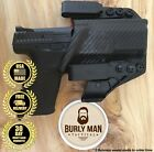 Burly Man Tactical Fits GLOCK G19 G23 G32 Kydex IWB AIWB Holster Black and Red