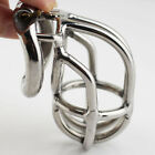 "NEW Male Chastity Belt Devices Lock Stainless Steel 2.16"" Bend The Cage S056"
