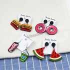 Super Cute Donuts Watermelon Coca Cola Hamburger Food Earring Ladies Party Gift $10.47  on eBay
