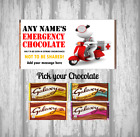 Personalised Chocolate Bar - Emergency Gift - Fun wrapper design with chocolate