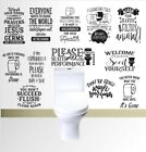 Wall Art Stickers For Toilet, Bathroom, Removable Home Decor, Vinyl Funny Quote