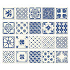 20x Traditional Tile Sticker Square Tiles Waterproof Bath Kitchen Hpme Decor New