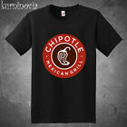 Chipotle Mexican Grill Logo Men's Black T-Shirt Size S to 3XL
