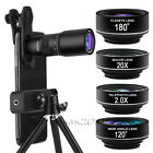 5in1 HD Phone Camera Lens Kits 18X Zoom Telephoto Lens Wide Macro For iPhone 11